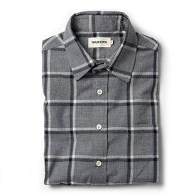 The California in Navy Salt and Pepper Plaid - featured image