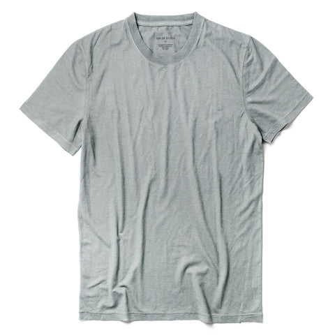 The Cotton Hemp Tee in Bay Mist - featured image