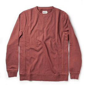 The Crewneck in Brick Red Terry - featured image