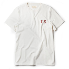 The Embroidered Heavy Bag Tee in Natural TS - featured image