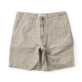 The Morse Short in Aluminum Slub Linen - featured image