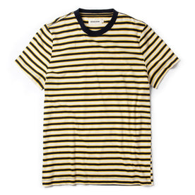 The Organic Cotton Tee in Gold Stripe - featured image