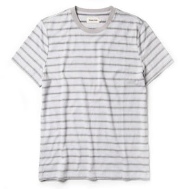 The Organic Cotton Tee in Graphite Stripe - featured image
