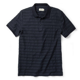 The Polo in Dark Navy Jacquard - featured image