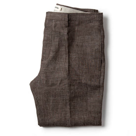 The Sheffield Trouser in Cocoa Linen - featured image