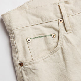 material shot of pocket selvage detail