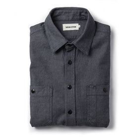 The Utility Shirt in Indigo Crosshatch - featured image