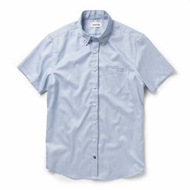 The Short Sleeve Jack in Washed Blue Oxford: Featured Image