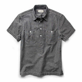 The Short Sleeve Popover in Charcoal Chambray - featured image