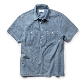 The Short Sleeve Popover in Blue Chambray - featured image