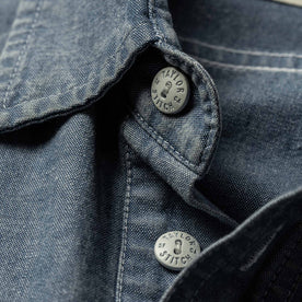 material shot of collar button
