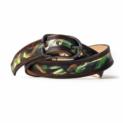 The Stitched Belt in Jungle Stripe