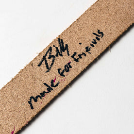 signed material shot of The Stitched Belt in Jungle Stripe