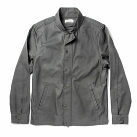The Bomber Jacket in Washed Slate Herringbone - featured image