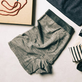 flatlay of boxer with other accessories