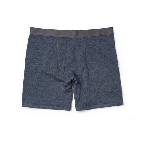 The Merino Boxer in Heather Navy - featured image