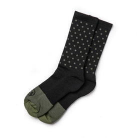 The Merino Sock in Black Dot: Featured Image