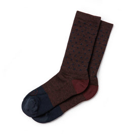 The Merino Sock in Maroon Dot: Featured Image