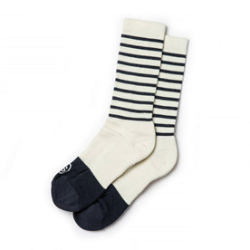 The Merino Sock in Natural Stripe - featured image