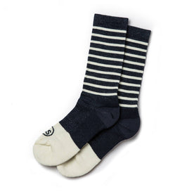 The Merino Sock in Navy Stripe: Featured Image