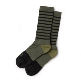 The Merino Sock in Olive Stripe - featured image