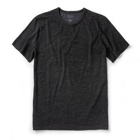 The Merino Tee in Heather Black: Featured Image