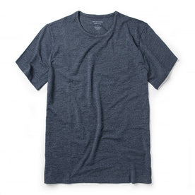 The Merino Tee in Heather Navy: Featured Image
