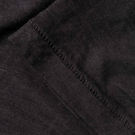 material shot of bottom stitching