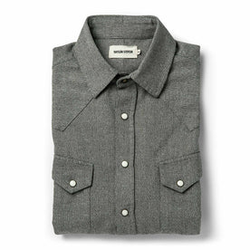 The Western Shirt in Olive Melange - featured image