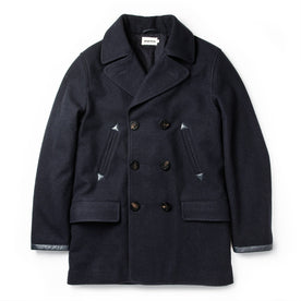The Mendocino Peacoat in Navy Wool - featured image