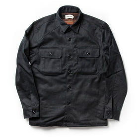 front flatlay of The Brother Moto Lined Shop Shirt in Be Fast