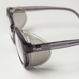 closeup shot of The Nux Safety Glasses