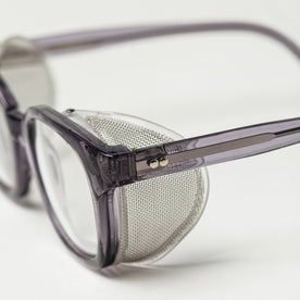 side detailing shot of The Nux Safety Glasses