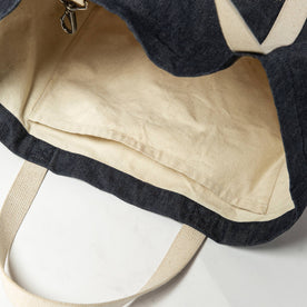 bag on the side, material shot of interior