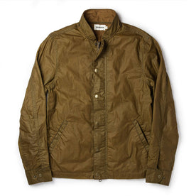 The Bomber Jacket in Field Tan Wax Canvas: Featured Image
