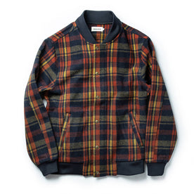 The Bomber Jacket in Navy Plaid Wool: Featured Image
