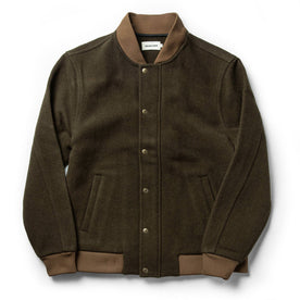 The Bomber Jacket in Olive Wool: Featured Image