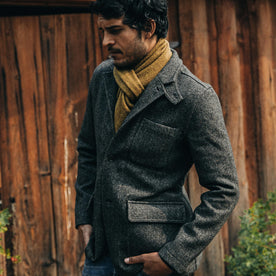 The Gibson Jacket in Charcoal Birdseye Wool: Alternate Image 10