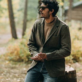 The Gibson Jacket in Olive Herringbone Wool - featured image