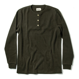 The Heavy Bag Waffle Henley in Olive - featured image