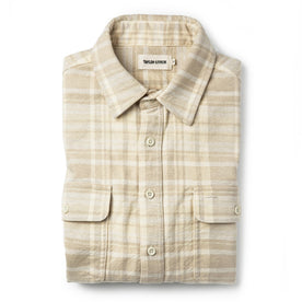 The Ledge Shirt in Sand Plaid - featured image