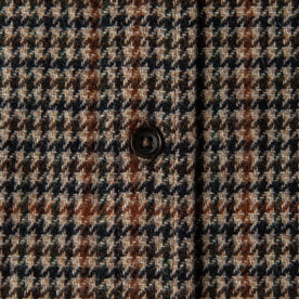 material shot of The Leeward Shirt in Houndstooth showing single button on placket