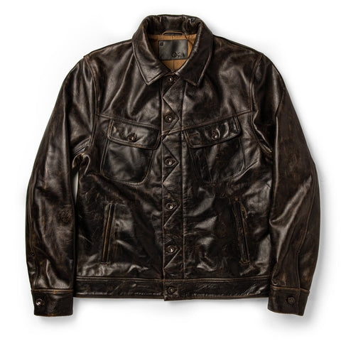 The Long Haul Jacket in Cola Leather - featured image