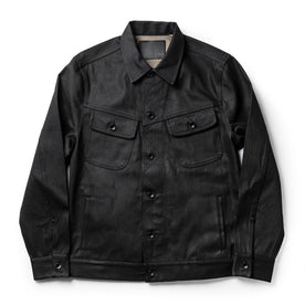 The Long Haul Jacket in Black Over-dye Selvage - featured image