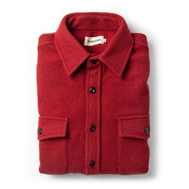 The Maritime Shirt Jacket in Clifford Red - featured image