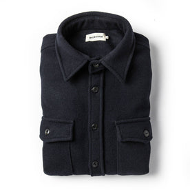 The Maritime Shirt Jacket in Deep Navy - featured image