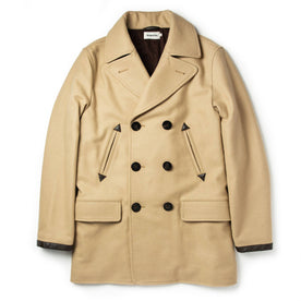 The Mendocino Peacoat in Camel Wool - featured image