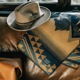 textural shot of The Wildland Heroes Firefighter Blanket in Golden State