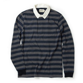 The Rugby Shirt in Navy Stripe - featured image