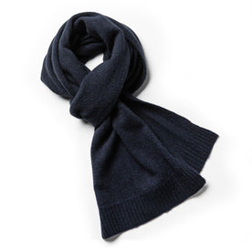 The Scarf in Navy Baby Yak: Featured Image